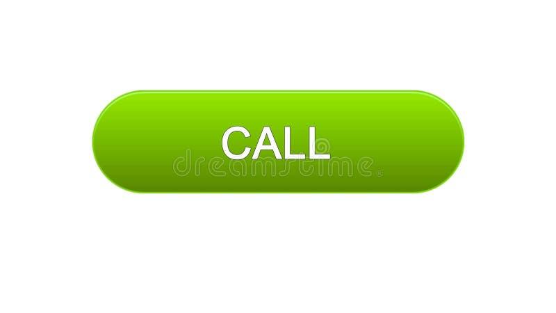 Chiami il bottone dell'interfaccia di web colore verde, l'assistenza del consulente, supporto tecnico royalty illustrazione gratis