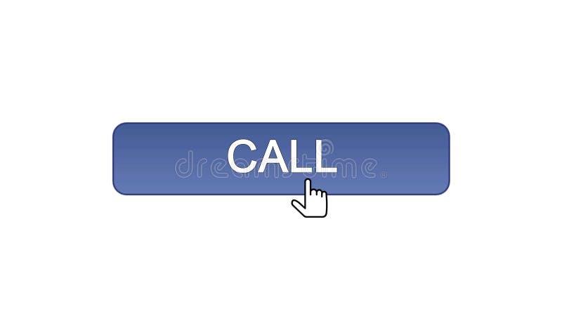 Chiami il cursore del topo cliccato bottone dell'interfaccia di web, il colore viola, supporto tecnico royalty illustrazione gratis