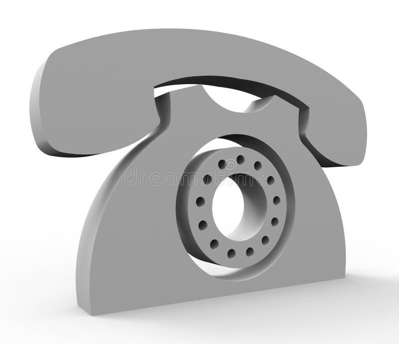 Chiamici servizi di mezzi di servizio che comunicano e che parlano illustrazione di stock