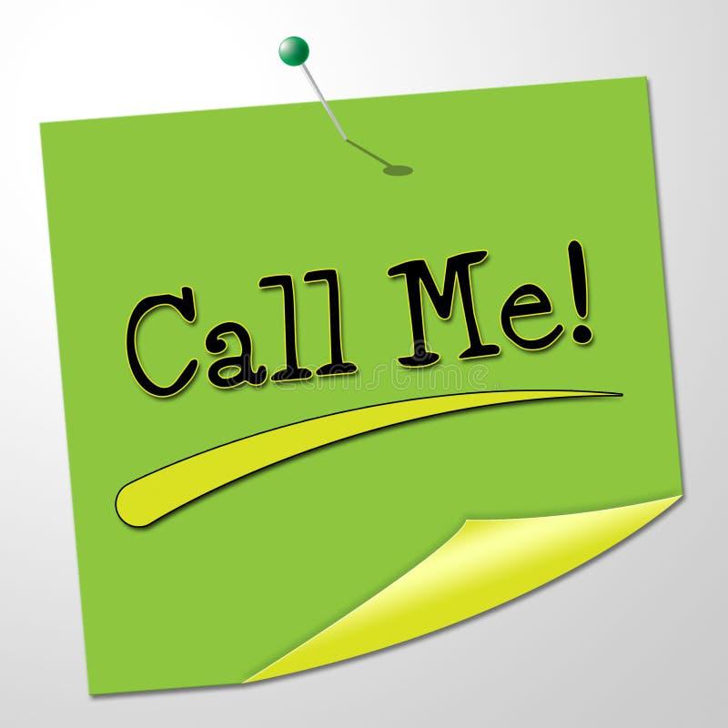 Chiamimi indica i messaggi che comunico e notano illustrazione di stock