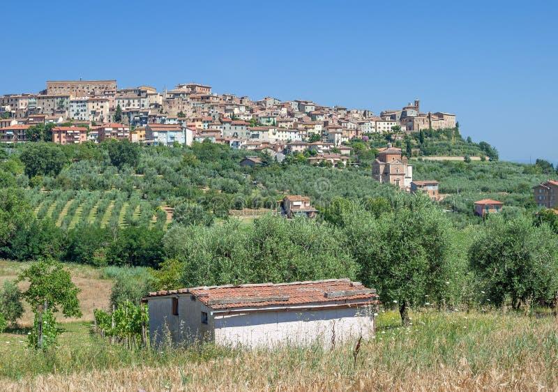 Chianciano Terme, провинция Сиены, Тоскана, Италия стоковое фото