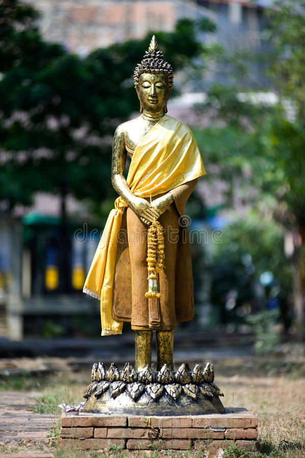 chiang jed mai泰国wat yod 免版税库存照片