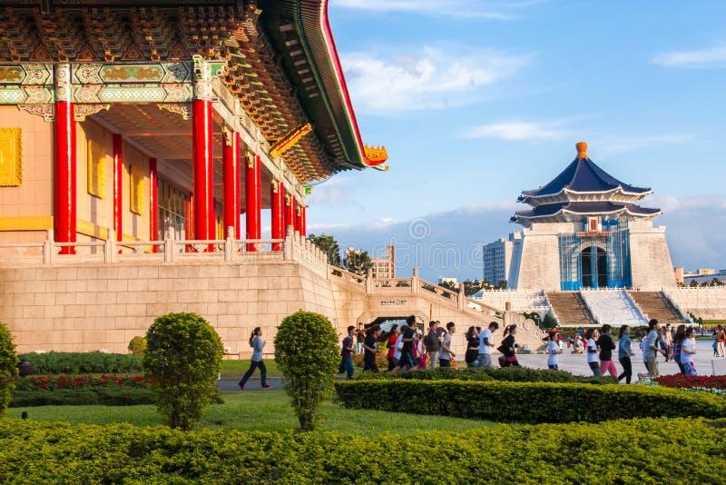 Chiang Kai-shek Memorial Hall January 19, 2013 in Taipei stock photo