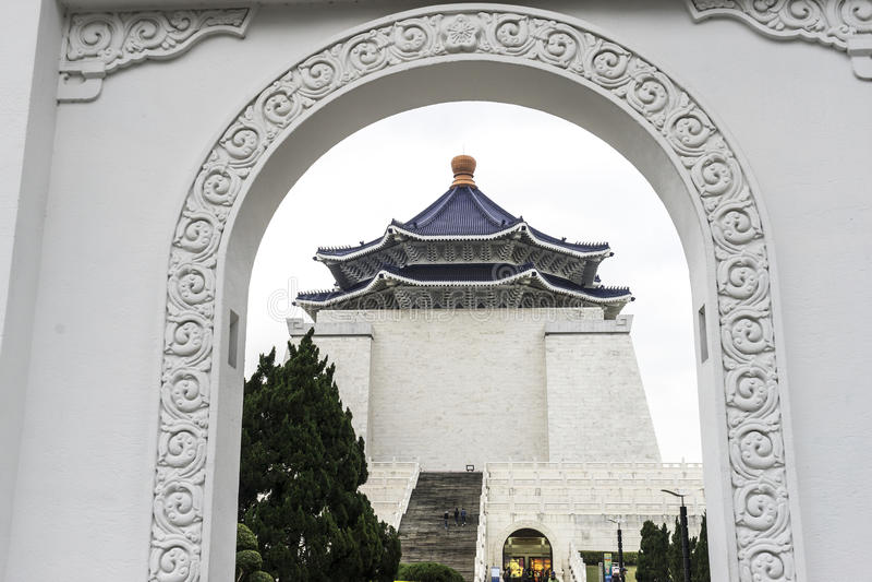 Chiang Kai Shek Memorial Hall. In late winter , Taipei, Taiwan stock photos
