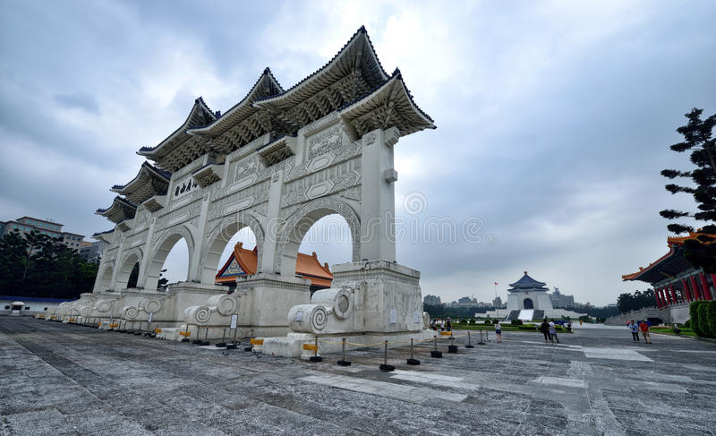 Chiang Kai-shek Memorial Hall. The National Chiang Kai-shek Memorial Hall is a Taiwanese national monument, landmark and tourist attraction erected in memory of royalty free stock photo