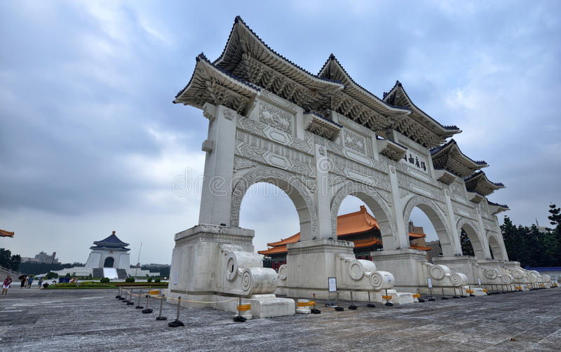 Chiang Kai-shek Memorial Hall. The National Chiang Kai-shek Memorial Hall is a Taiwanese national monument, landmark and tourist attraction erected in memory of stock photo