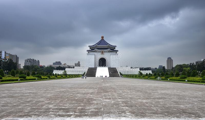 Chiang Kai-shek Memorial Hall. The National Chiang Kai-shek Memorial Hall is a Taiwanese national monument, landmark and tourist attraction erected in memory of royalty free stock photography