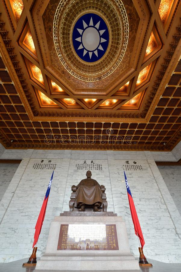 Chiang Kai-shek Memorial Hall. National Chiang Kai-shek Memorial Hall is a Taiwanese national monument, landmark and tourist attraction erected in memory of royalty free stock photos