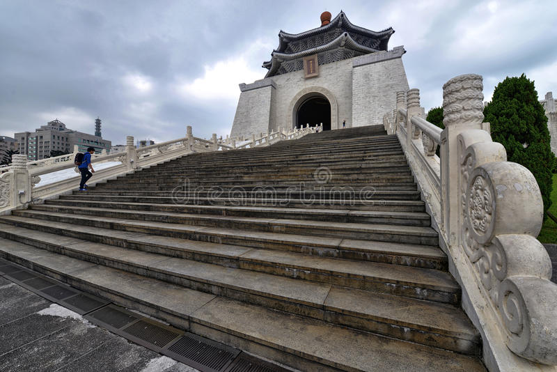 Chiang Kai-shek Memorial Hall. The National Chiang Kai-shek Memorial Hall is a Taiwanese national monument, landmark and tourist attraction erected in memory of royalty free stock images