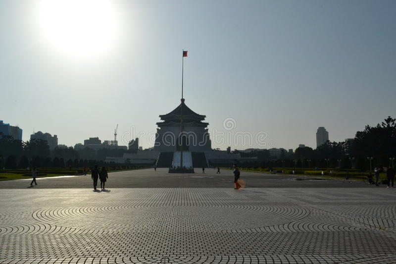 Chiang kai-shek memorial hall. Romantic white bridge at chiang kai-shek memorial hall in taipei royalty free stock photo