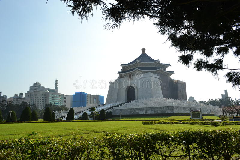 Chiang kai-shek memorial hall. Romantic white bridge at chiang kai-shek memorial hall in taipei stock images