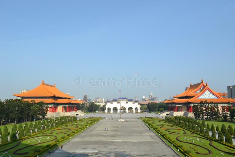 Chiang kai-shek memorial hall. Romantic white bridge at chiang kai-shek memorial hall in taipei stock image