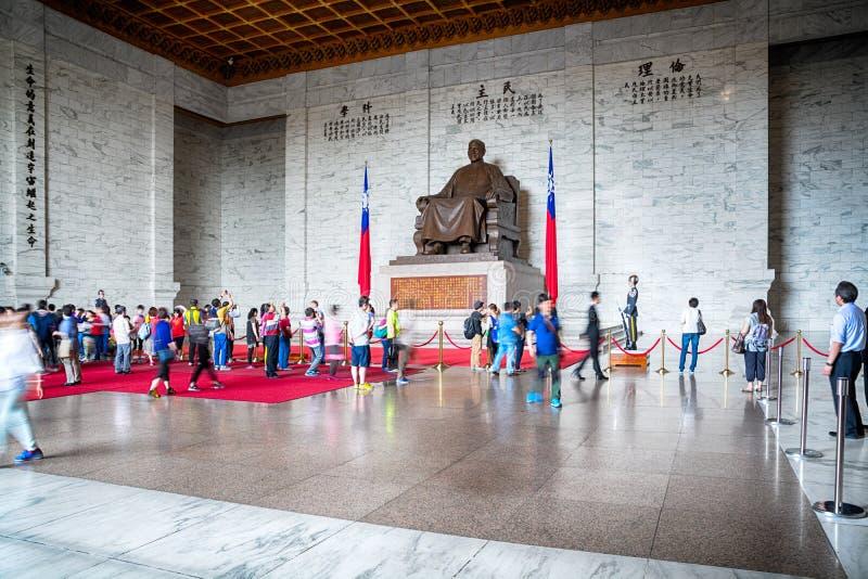 Chiang Kai-Shek Memorial Hall in Taipeh stock fotografie