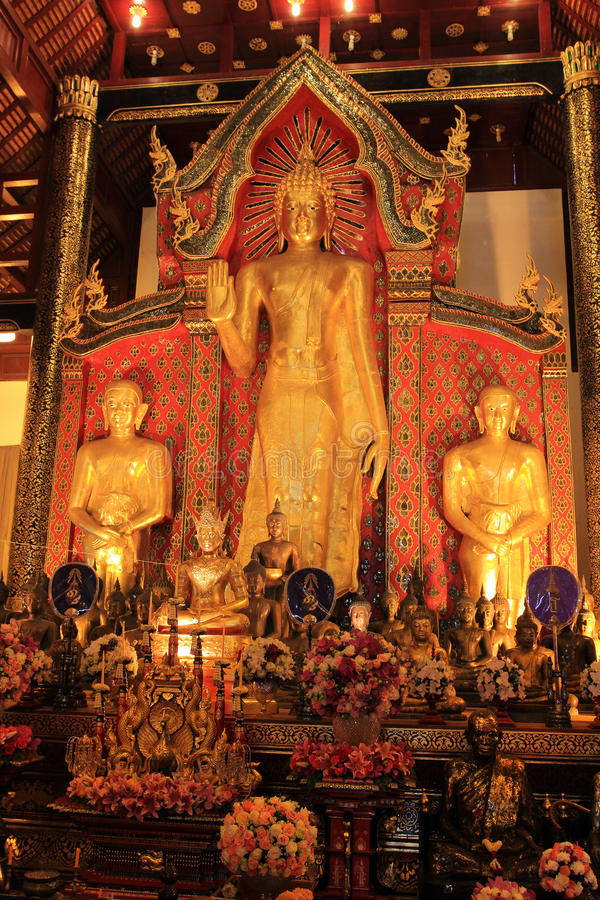 Chiang Mai buddist temples - interior royalty free stock images