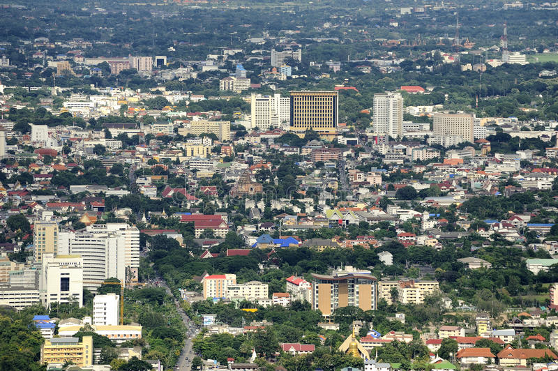 Chiang Mai City. Chiang Mai City : High angle view Planning Thailand stock image