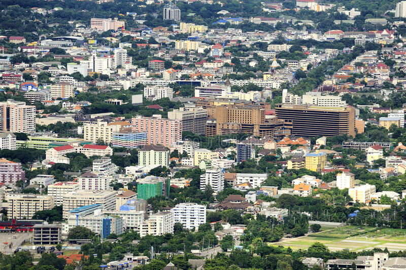 Chiang Mai City. Chiang Mai City : High angle view Planning Thailand royalty free stock photos