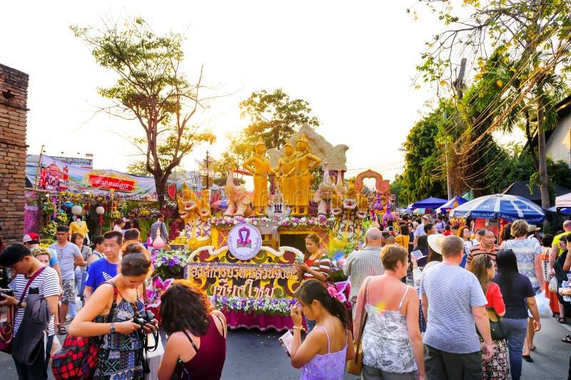 Chiang Mai Flower Festival 2016 fotos de stock royalty free