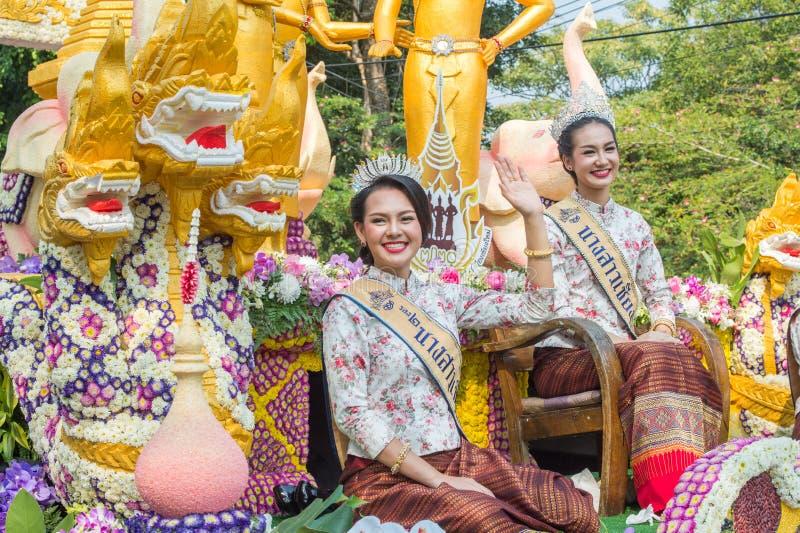 Chiang Mai Flower Festival Parade 2016 stock image