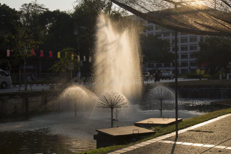 Chiang Mai Fountain fotografering för bildbyråer