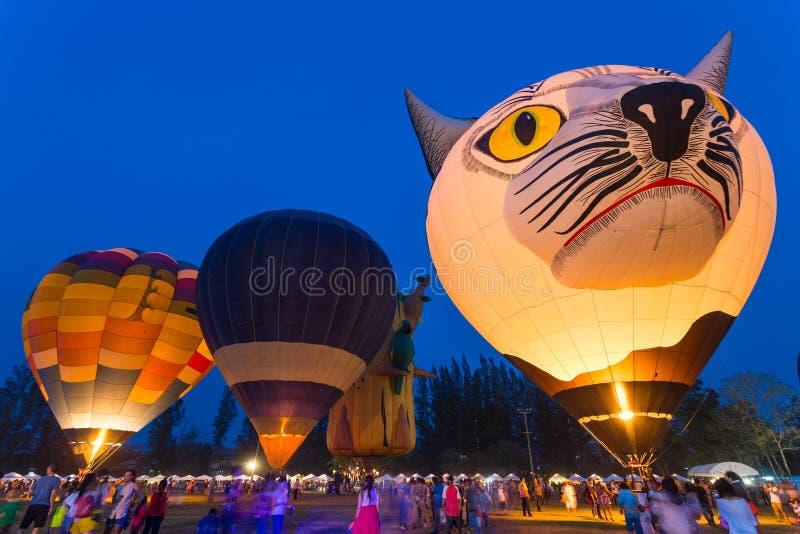 Chiang Mai Hot Air Balloon Festival fotografia de stock royalty free