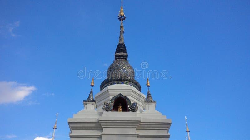 Chiang Mai Rooftop Temple royaltyfri fotografi