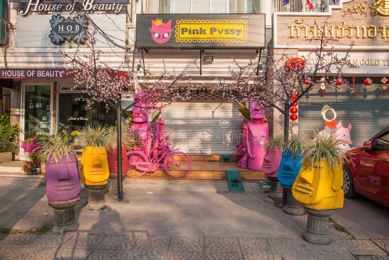Chiang Mai, rue de la Thaïlande image stock