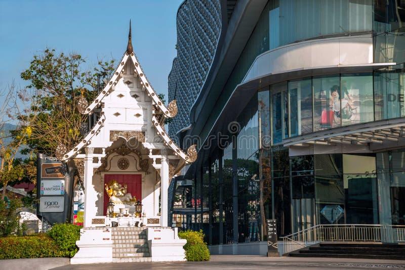 Chiang Mai, rue de la Thaïlande images libres de droits