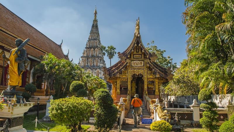 Colorful temples of Chiang Mai. Chiang Mai is the second largest city in Thailand. As the capital of the Lanna Kingdom, Chiang Mai exudes a charming classical stock image