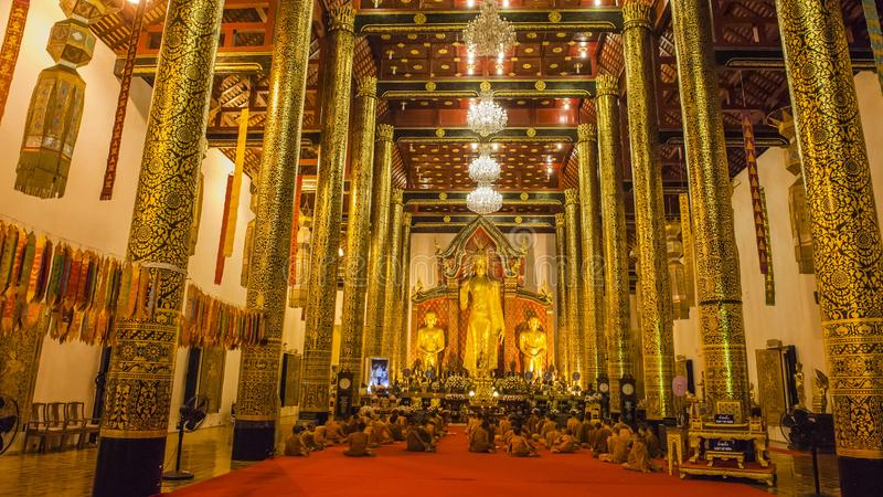 Colorful temples of Chiang Mai. Chiang Mai is the second largest city in Thailand. As the capital of the Lanna Kingdom, Chiang Mai exudes a charming classical royalty free stock image