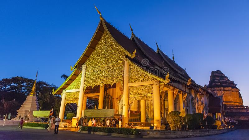 Colorful temples of Chiang Mai. Chiang Mai is the second largest city in Thailand. As the capital of the Lanna Kingdom, Chiang Mai exudes a charming classical stock images