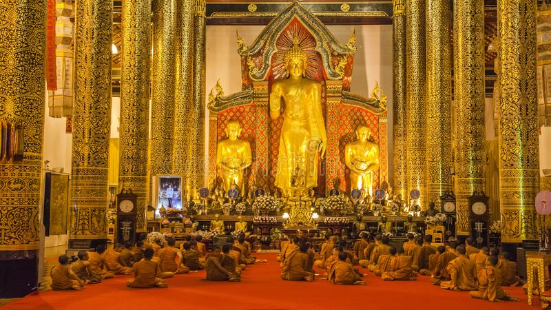 Colorful temples of Chiang Mai. Chiang Mai is the second largest city in Thailand. As the capital of the Lanna Kingdom, Chiang Mai exudes a charming classical stock photo