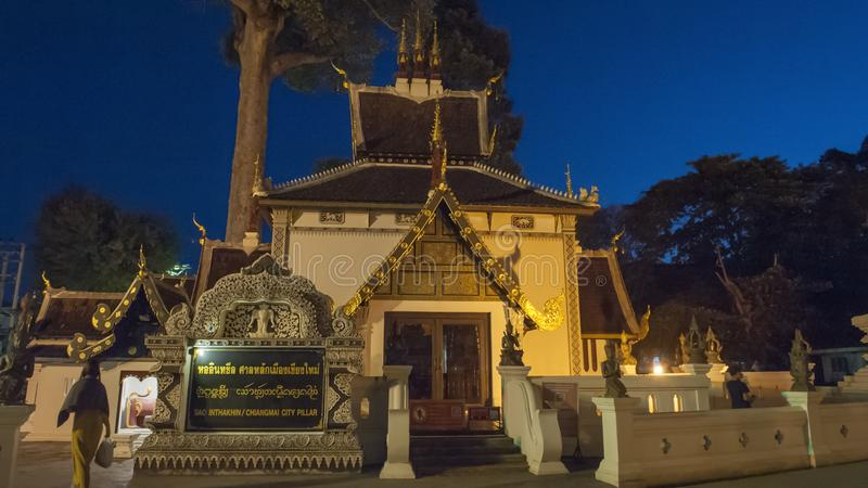 Colorful temples of Chiang Mai. Chiang Mai is the second largest city in Thailand. As the capital of the Lanna Kingdom, Chiang Mai exudes a charming classical stock photos