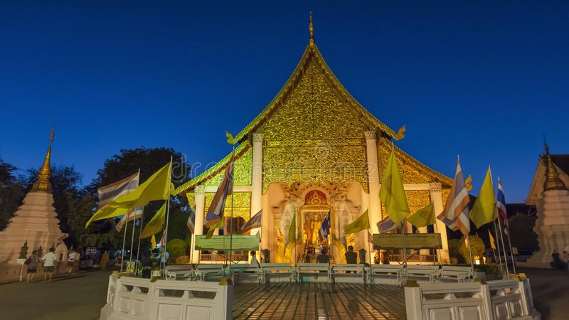 Colorful temples of Chiang Mai. Chiang Mai is the second largest city in Thailand. As the capital of the Lanna Kingdom, Chiang Mai exudes a charming classical royalty free stock photo