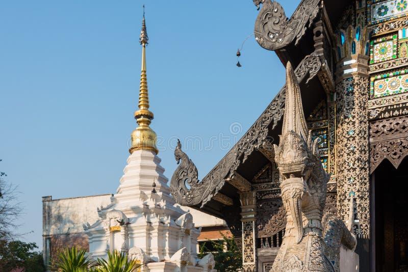 Chiang Mai, Tailândia - 22 de fevereiro de 2015: Pagode em Wat Chang Taem A imagem de stock royalty free