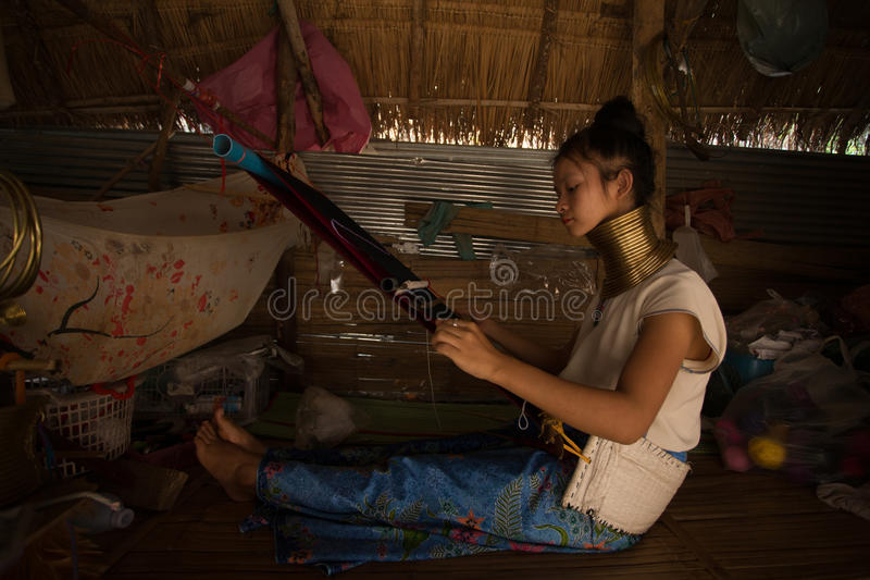 CHIANG MAI, TAILAND - APRIL 22, 2016: A portrait of a woman work stock photography