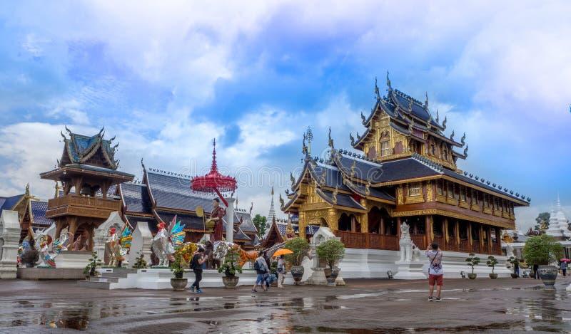 CHIANG MAI, TAILANDIA - 20 agosto 2017: Il tempio della tana di divieto è un tempio tailandese che è situato nella parte settentr fotografie stock