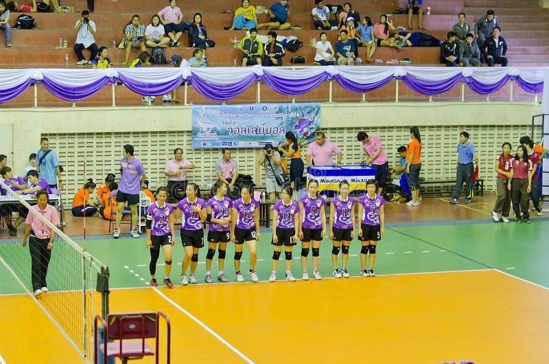 Chiang Mai, Tailandia - 5 de mayo: El 33ro manageme del deporte de la universidad imagen de archivo libre de regalías