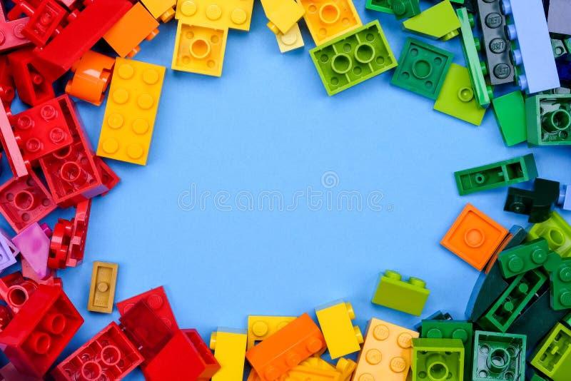 Chiang Mai, TAILANDIA - 27 maggio 2018: Lego è una linea di plastica c fotografia stock libera da diritti