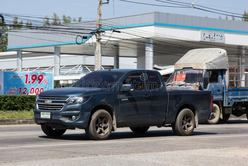 CHIANG MAI TAJLANDIA, STYCZEŃ, - 22 2017: Intymny Pickup samochód, Chevrolet Corolado Duramax  fotografia royalty free