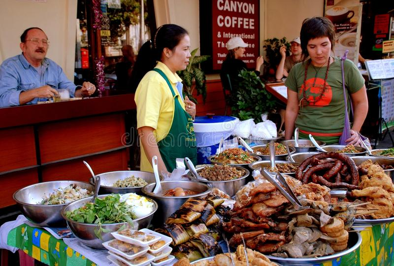 Download Chiang Mai, TH: Food Vendors Editorial Stock Photo - Image: 26362148