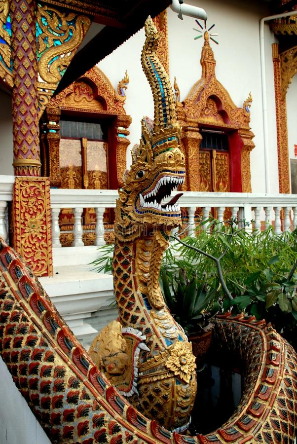 Chiang Mai, TH: Naga At Wat Lan Chang Stock Image