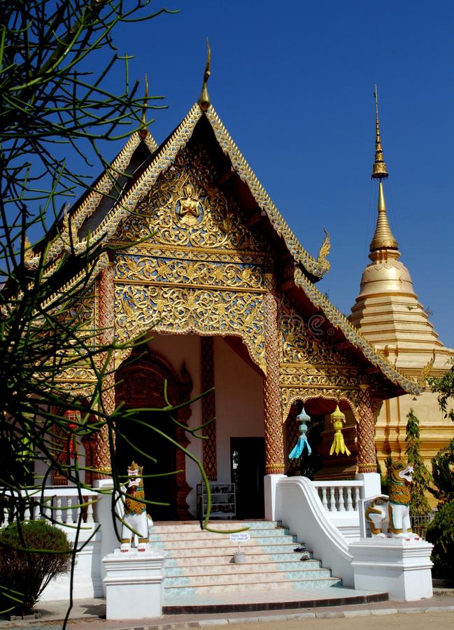 Download Chiang Mai, TH: Wat Chai Pakhet Stockfoto - Bild von thailand, halle: 26362292