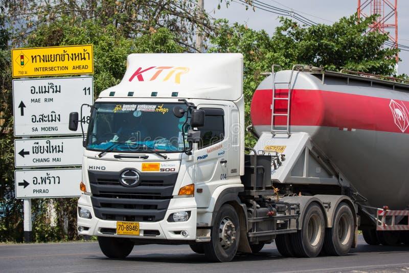 Cement truck of Kittirat company stock image