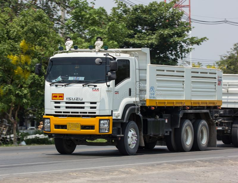 Dump truck of CPL Company. CHIANG MAI, THAILAND - APRIL 20 2018: Trailer Dump truck of CPL Company. On road no.1001, 8 km from Chiangmai city royalty free stock photography