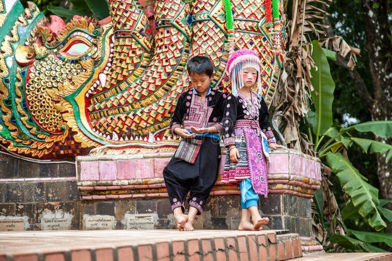 CHIANG MAI, THAILAND - AUGUSTUS 9: Portret van niet geïdentificeerde heuvel royalty-vrije stock foto