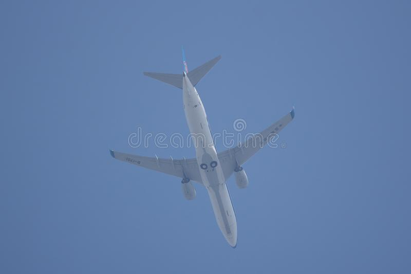 Boeing 737-800 of China Southern Airline. CHIANG MAI, THAILAND - FEBRUARY 23 2018: B-1701 Boeing 737-800 of China Southern Airline. Take off from Chiangmai stock photos