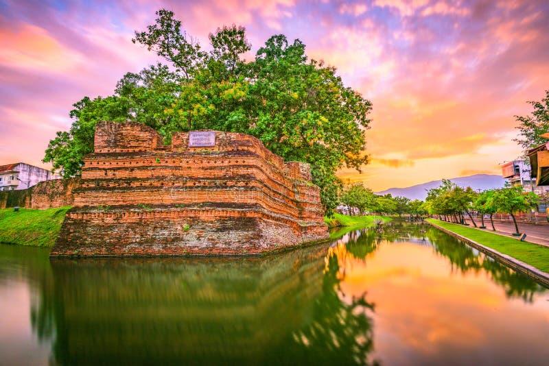 Chiang Mai Thailand gammal stad fotografering för bildbyråer