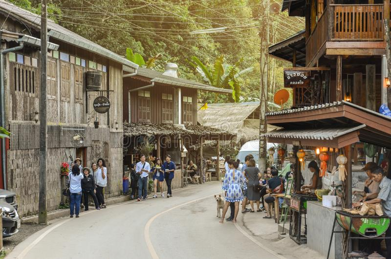 Chiang Mai, Thailand - Jan 16, 2017 : Ban Mae Kam Pong is a hom. Estay eco-tourism destination in Chiang Mai province, Thailand royalty free stock photo