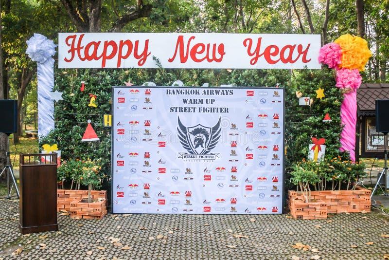 Chiang Mai Thailand - Januari 4: Opwarming Street Fighter Doi Suthe stock afbeelding