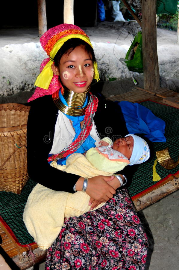 Download Chiang Mai, Thailand: Long Neck Mother With Baby Editorial Stock Photo - Image: 28477898